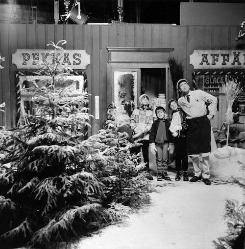 Julstämning i svartvitt.