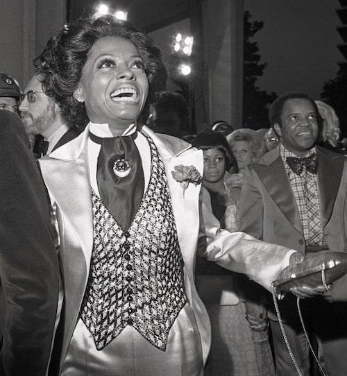 Diana Ross, i kostym av Bob Mackie, var nominerad i kategorin Bästa kvinnliga biroll på Oscarsgalan 1973.