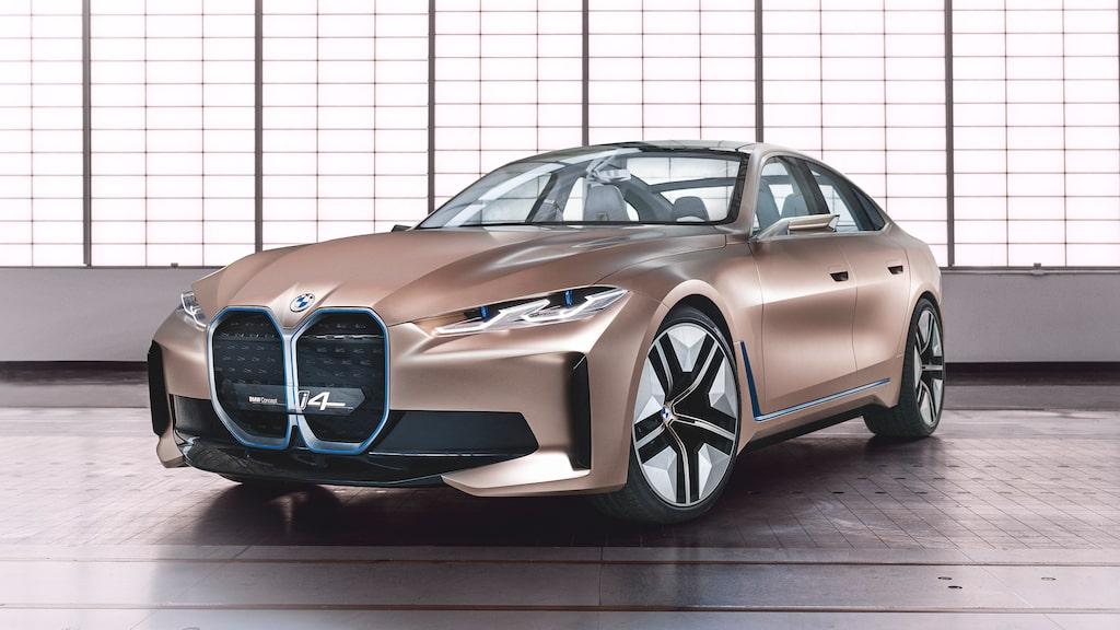 Kommande BMW i4 som koncept.