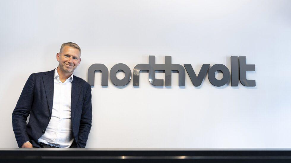 Northvolt med vd Peter Carlsson bygger ny batterifabrik i Skellefteå.