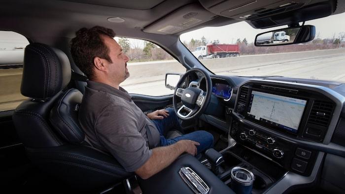 Ford BlueCruise-systemet under användning i F-150.