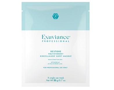 Restore polyhydroxy sheet masque, Exuviance professional. Klicka på bilden och kom direkt till produkten.