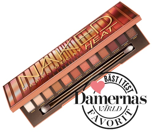 Recension och omdöme på Naked heat palette, Urban decay.