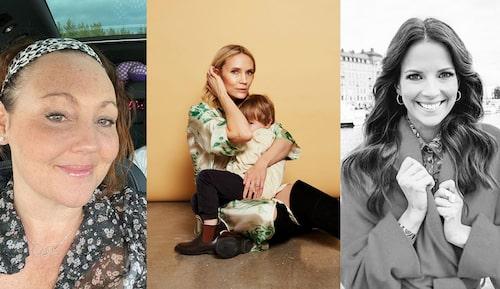 Hanna Hedlund, Moa Gammel med sonen Nateo samt barnprogramledaren Malin Olsson.