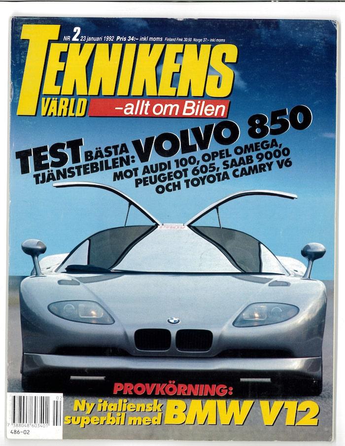 Rotar du fram Teknikens Värld nummer 2/1992 kan du läsa hela vår provkörning av BMW Nazca M12 Italdesign Concept.