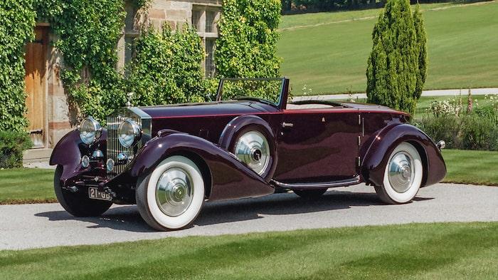 Rolls-Royce Phantom II Continental Drophead Coupé från 1934.
