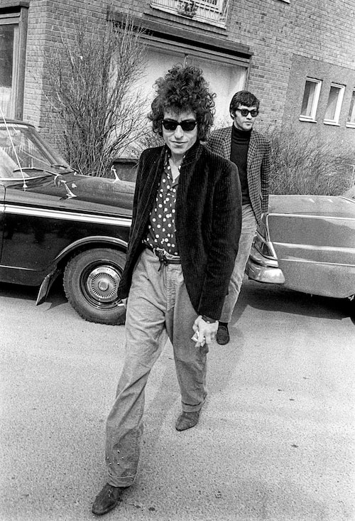 Bob Dylan i Stockholm 1966.