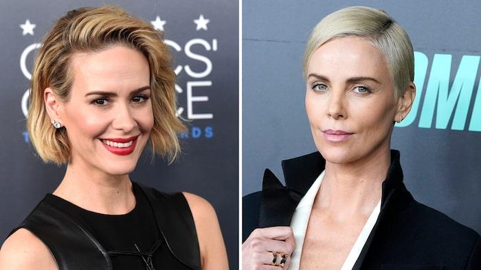Från helkort till bob – alla modeller av kort hår funkar just nu. Sarah Paulson och Charlize Theron sportar två snygga varianter.
