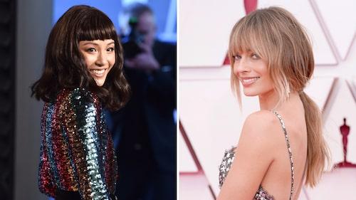 Alla längder av lugg är inne. Skådespelarna Constance Wu och Margot Robbie diggar lugg-trenden.