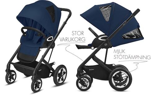 Talos S Lux passar barn från nyfödd upp till 4 år.