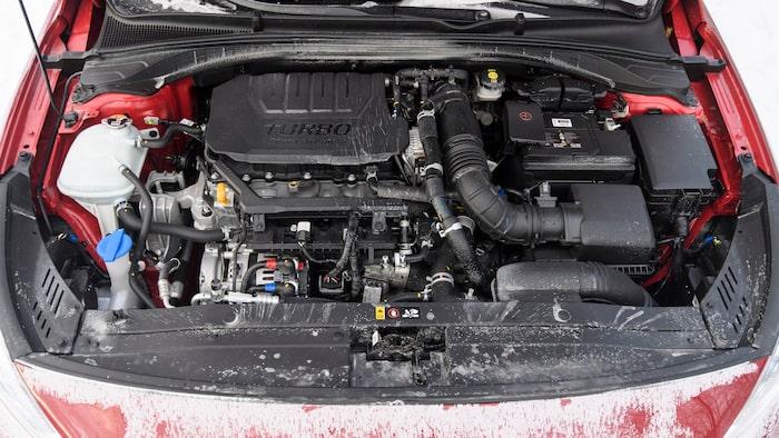 Bensindriven 1,5-litersmotor på 160 hästar med 48-volts mildhybridteknik.