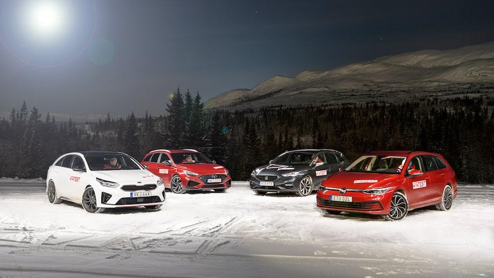 Nya Volkswagen Golf Sportscombi i test mot Seat Leon Sportstourer och de två syskonkärrorna Hyundai i30 Kombi och Kia ProCeed.