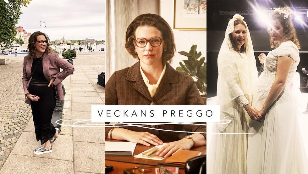 """Josefin Neldén fick dölja gravidmagen när hon spelade in senaste säsongen av """"Vår tid är nu"""", där hon spelar Maggan."""