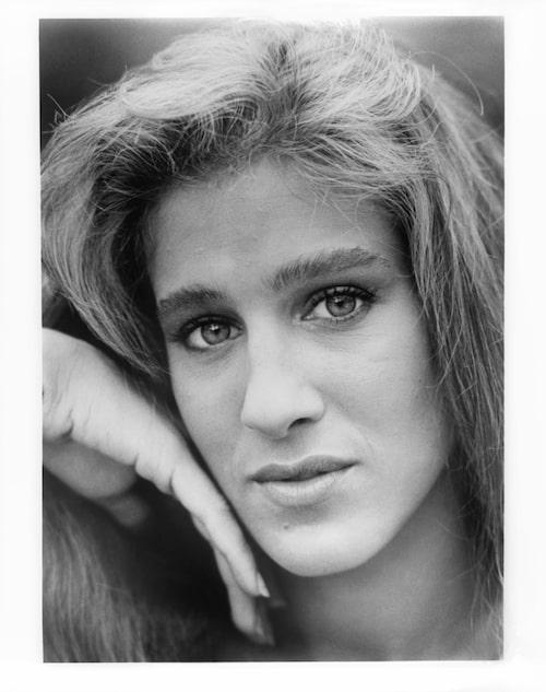 En yngre version av SJP, fotograferad 1984 i samband med att hon spelade in filmen Girls just want to have fun.