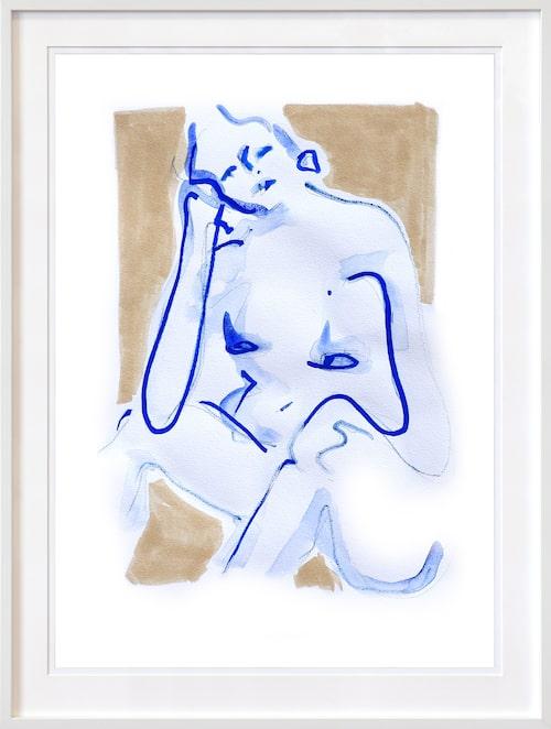 Illustration Body at home, mind on holiday av Elin Krönström, NOA Gallery. Klicka på bilden för att komma direkt till illustrationen.