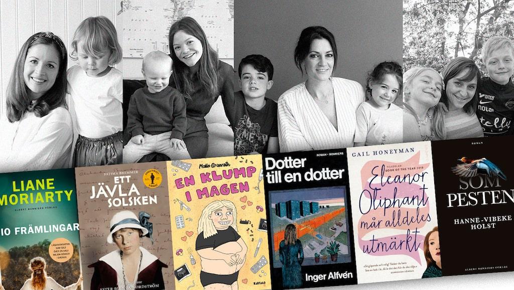 mama-redaktionens Carin Carlgren, Emelie Lindblom Dalén, Lollo Bratt och Lisa Nylén ger sina bästa boktips.