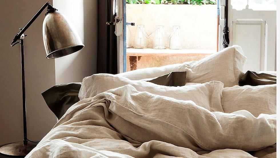 Sov sött i Dirty Linens Animaux-lakan av mjukaste linne.