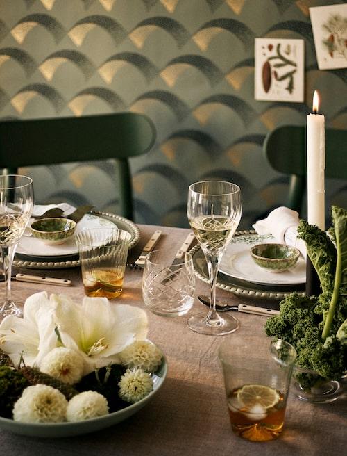 Kreativ växtkraft sprider glädje bland gästerna.