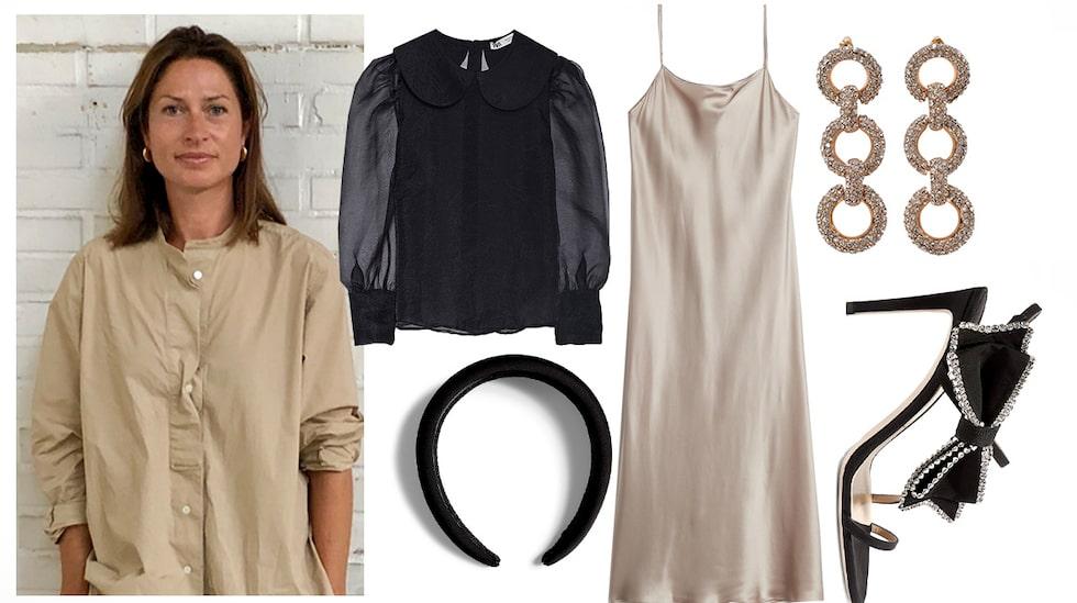 Styla en vanlig klänning trendigt till nyår.