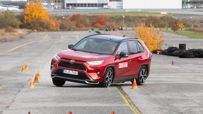 Toyota RAV4 Laddhybrid vid vårt test i fjol.