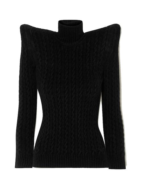 Svart stickad tröja från Balenciaga. Klicka på bilden och kom direkt till tröjan.