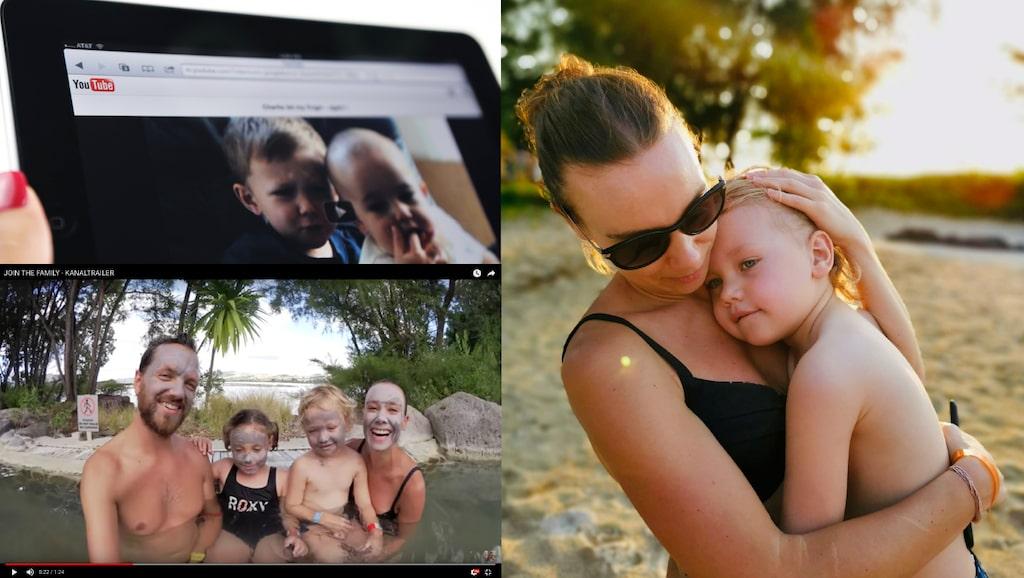 """Joanna André visar upp familjens vardagsliv och drömmiga resor i """"The Swedish family"""" på Youtube."""