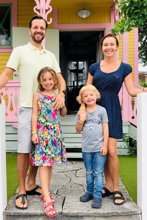The Swedish family i Kneippbyn på Gotland.
