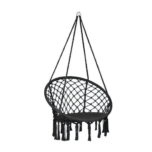 I den här hängstolen får både mamma och barn plats.