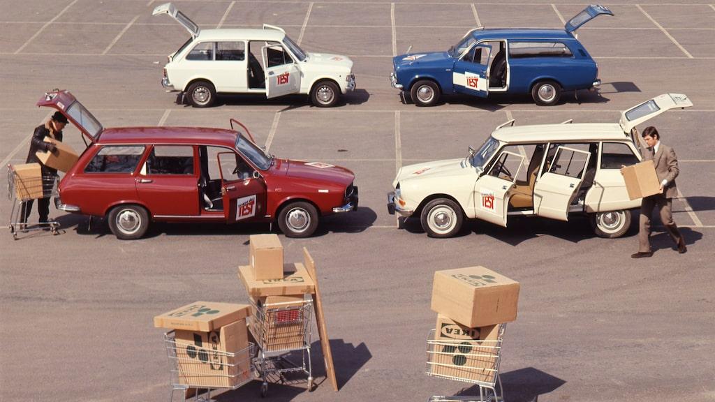 Alla får paket. Teknikens Värld testar kombibilar utanför Ikeas varuhus i södra Stockholm. Landets andra efter det i Älmhult.