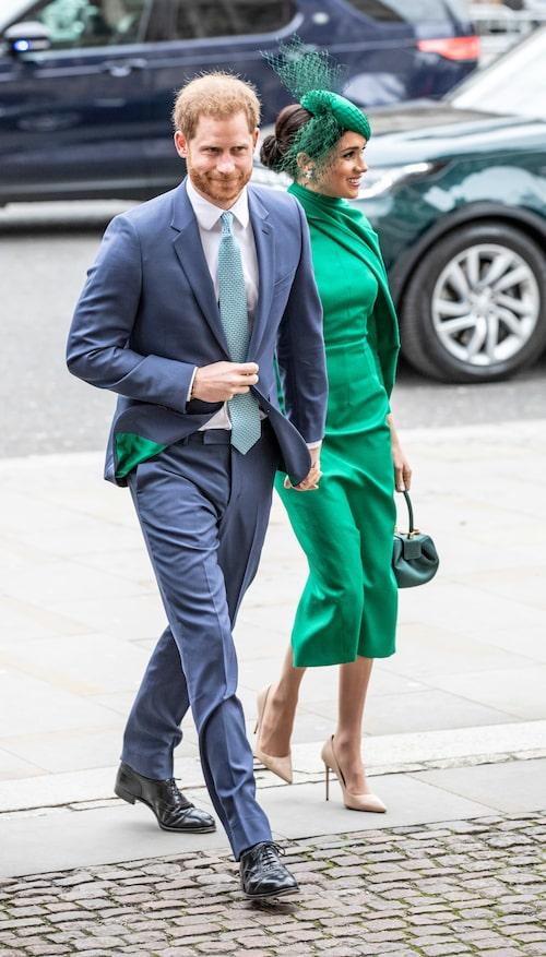 Prins Harrys subtila matchning med Meghans klänning.