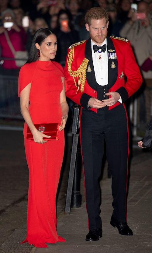 Meghan Markle och prins Harry under Mountbatten Music Festival.