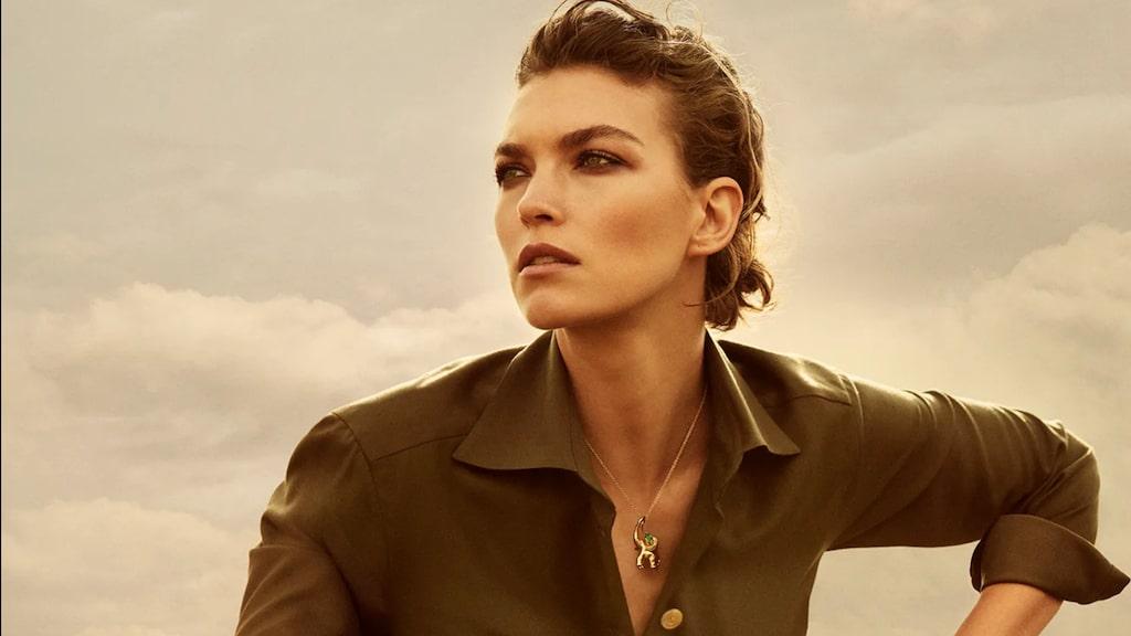 Miljöengagerade modellen Arizona Muse är ett av ansiktena utåt för kampanjen.