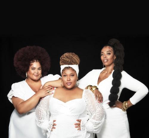 Loulou med The Mamas-kollegorna Ash och Dinah.