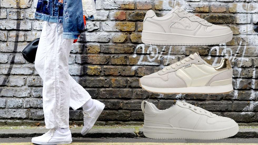 Vita sneakers till budgetpris - det hittar du här!