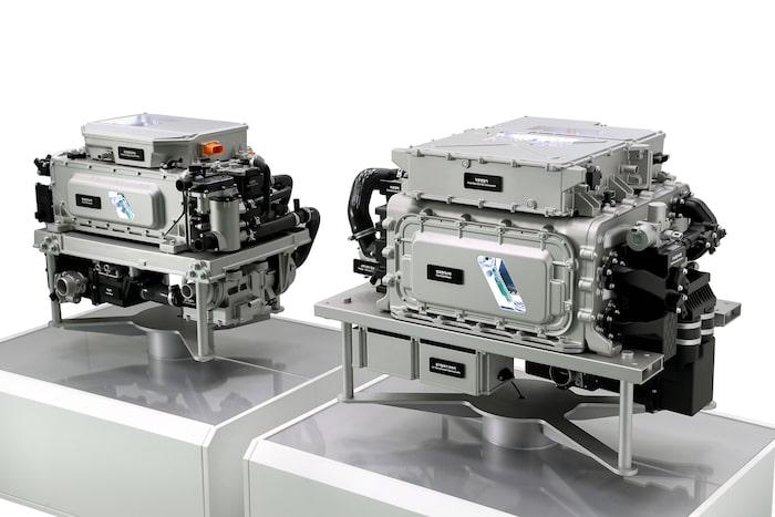 Tredje generationen bränslecell visas i två utföranden: 100 kW och 200 kW.