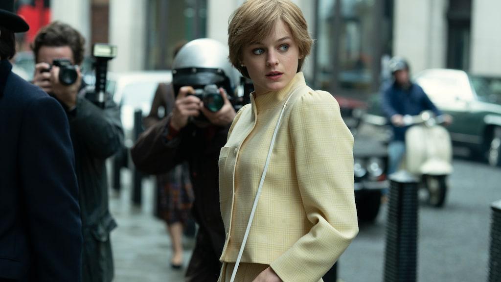 Emma Corrin spelar Lady Diana i säsong 4 av The Crown på Netflix.