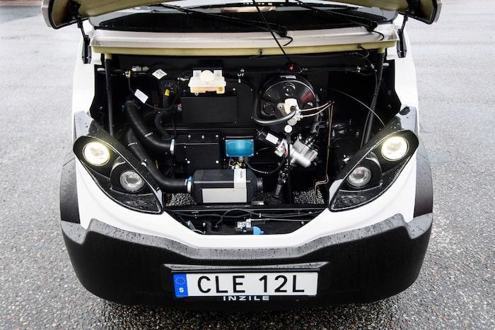 Kupévärmare som körs på HVO100 ger klimatvänlig temperatur i kupén.