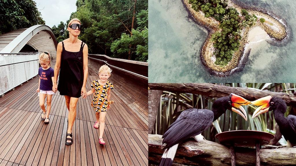 Gör som mamas Kristin Nyström och ta med barnen till magiska Singapore.
