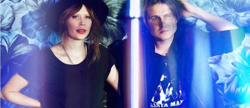 Sofie med sin make, artisten Markus Krunegård.