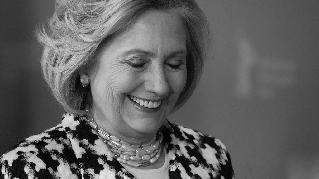 Hillary Clinton i Berlin där Damernas Värld träffade henne.