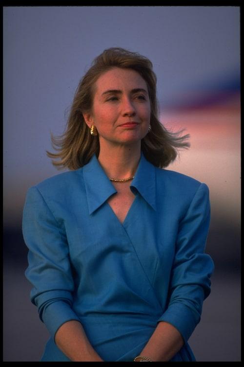 Hillary Clinton fotograferad 1992.