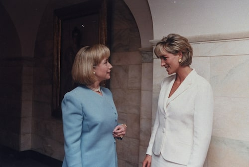 Hillary Clinton och Prinsessan Diana, 90-tal.