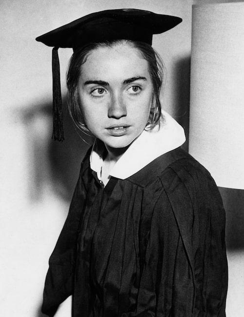 Hillary Rodham Clinton som ung student på Wellesley College, 1969. På bilden är hon 22 år gammal.
