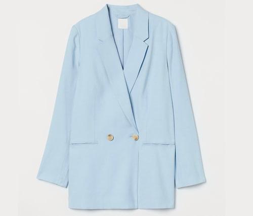 Blå oversize kavaj för dam.