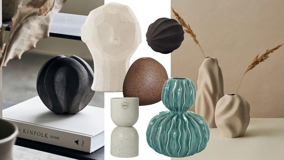 Uppdatera din inredning med härliga keramikföremål.