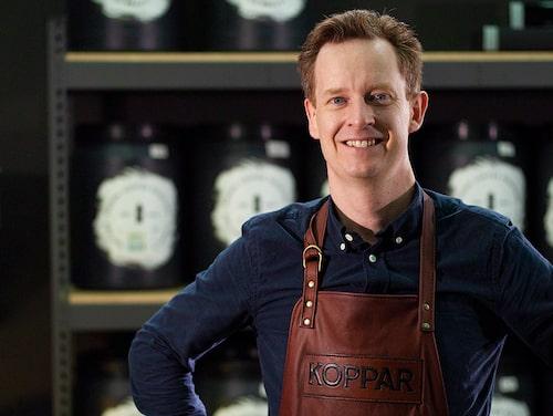 Kaffeproffset Fredrik driver ett eget rosteri i Stockholm.
