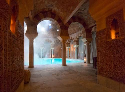 """Hamam Al Andalus i Cordoba bjuder på miljöer som hämtade ur """"Tusen och en natt""""."""