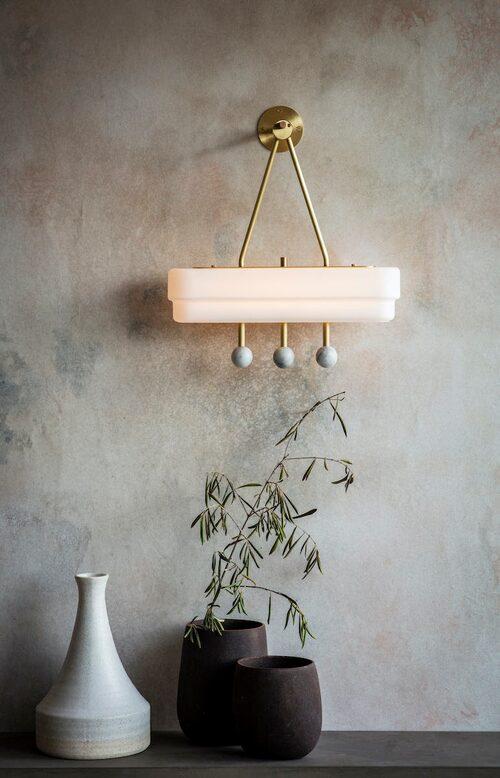 Art deco-inspirerade lampan Spate från brittiska Bert Frank, pris på förfrågan.