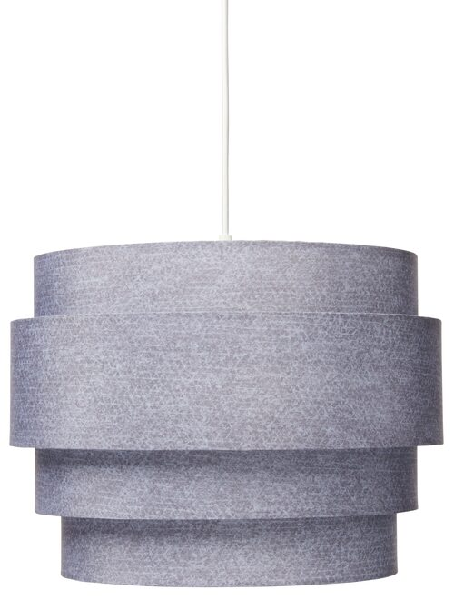 Ormskinnsmönstrad taklampa i grått, ø36cm, från Rusta.