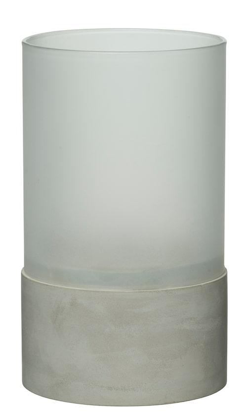 Liten batteridriven bordslampa Beirut med betongfundament, 17 cm hög, från Rusta.